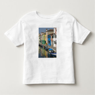 Italy, Venice, Burano. Multicolored houses along 2 Toddler T-Shirt