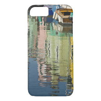Italy, Venice, Burano. Multicolored houses along iPhone 7 Case