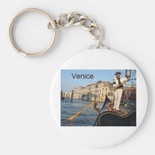 Italy Venice gondola (St.K) Basic Round Button Key Ring