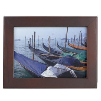 Italy, Venice. Gondolas. Keepsake Box