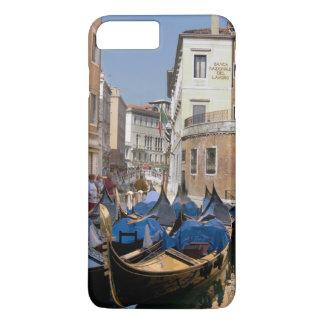 Italy, Venice, gondolas moored along canal iPhone 8 Plus/7 Plus Case