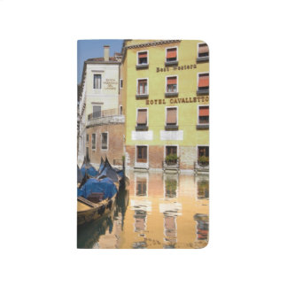 Italy, Venice, gondolas moored along canal Journal