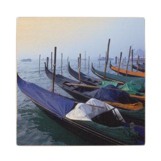 Italy, Venice. Gondolas. Wood Coaster