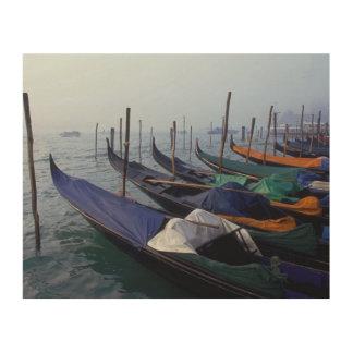 Italy, Venice. Gondolas. Wood Print