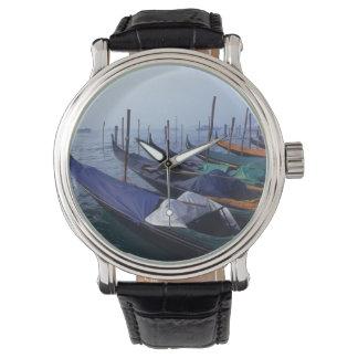 Italy, Venice. Gondolas. Wristwatch