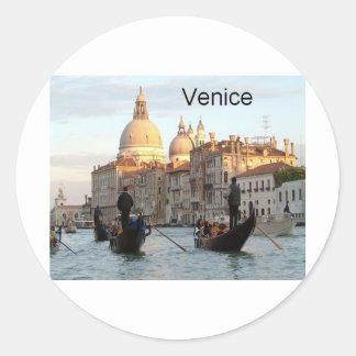 Italy Venice Grand Canal St K Round Sticker