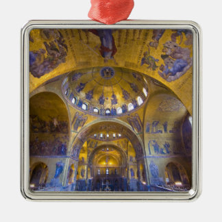 Italy, Venice. Interior of St. Marks Cathedral. Silver-Colored Square Decoration