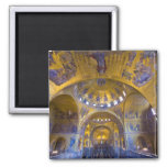 Italy, Venice. Interior of St. Marks Cathedral. Square Magnet