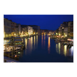 Italy, Venice, Night View Along the Grand 2 Photo Print