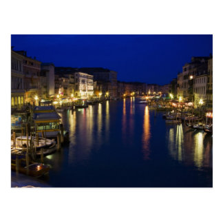 Italy, Venice, Night View Along the Grand 2 Postcard