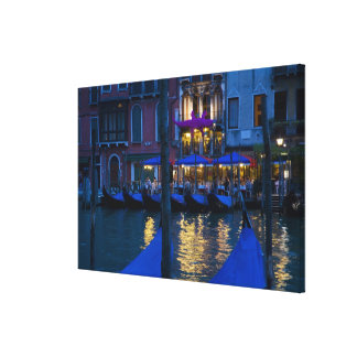 Italy, Venice, Night View Along the Grand Canvas Print