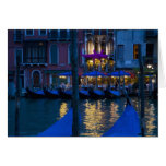 Italy, Venice, Night View Along the Grand Greeting Card