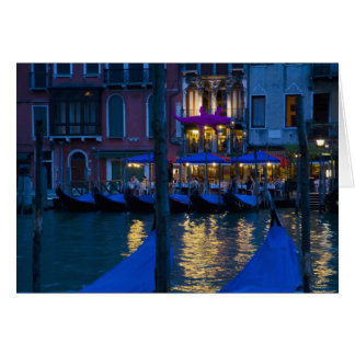Italy, Venice, Night View Along the Grand Card