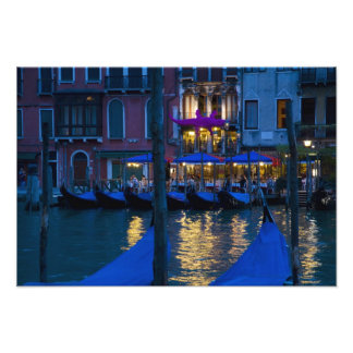 Italy, Venice, Night View Along the Grand Photo Print