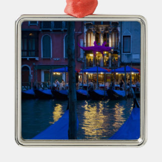Italy, Venice, Night View Along the Grand Silver-Colored Square Decoration