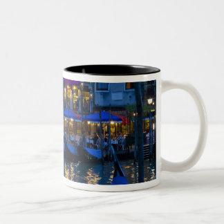 Italy, Venice, Night View Along the Grand Two-Tone Coffee Mug