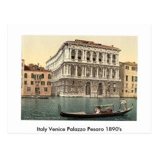 Italy Venice Palazzo Pesaro 1890's Postcard