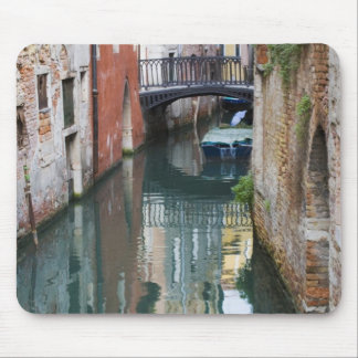 Italy, Venice, Reflections and Small Bridge of Mouse Mat