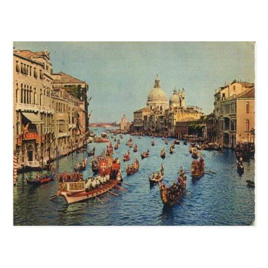 Italy, Venice, Regatta on the Grand Canal Postcard