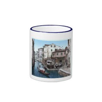 Italy Venice Rio Della Botisella 1890's Ringer Mug