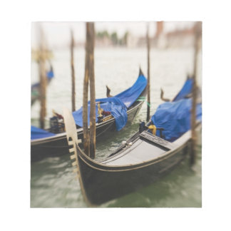 Italy, Venice, Selective Focus of Gondola in the Notepad