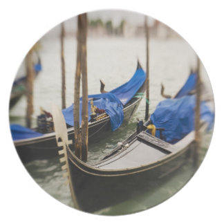 Italy, Venice, Selective Focus of Gondola in the Plate