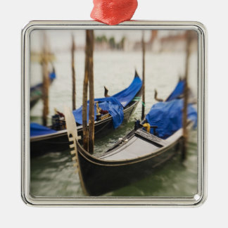 Italy, Venice, Selective Focus of Gondola in the Silver-Colored Square Decoration