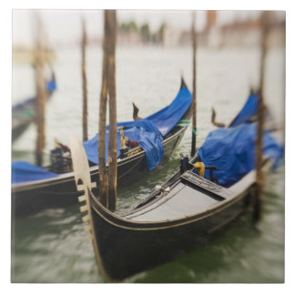 Italy, Venice, Selective Focus of Gondola in the Tile