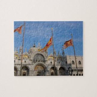 Italy, Venice, St. Mark's Basilica in St. Mark's Jigsaw Puzzle