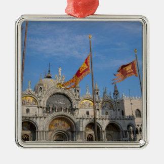 Italy, Venice, St. Mark's Basilica in St. Mark's Silver-Colored Square Decoration