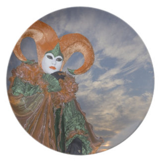 Italy, Venice. Woman dressed in costume for Plate