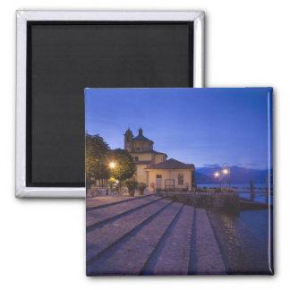 Italy, Verbano-Cusio-Ossola Province, Cannobio. Square Magnet