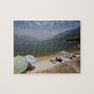Italy, Verona Province, Brenzone. Lake Garda Jigsaw Puzzle
