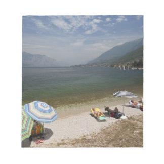 Italy, Verona Province, Brenzone. Lake Garda Memo Notepad