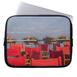 Italy, Verona Province, Torri del Benaco. Laptop Sleeve