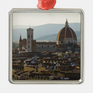 Italy, View of Florence with Basilica di Santa Christmas Ornament