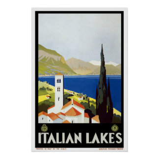 Italy Vintage Travel Poster