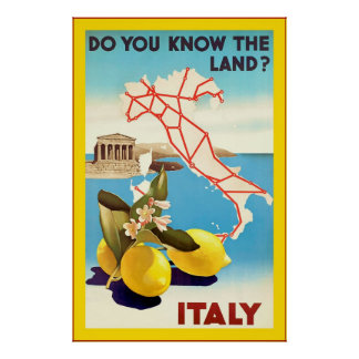 Italy ~ Vintage Travel Poster