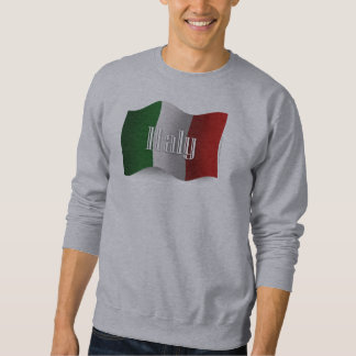 Italy Waving Flag Sweatshirt