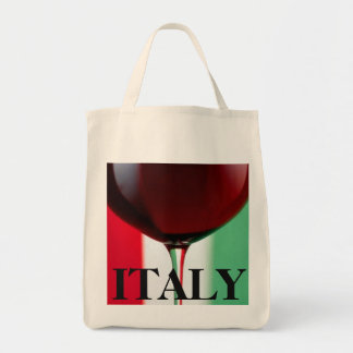 Italy Wine Grocery Tote Grocery Tote Bag