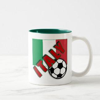 ITALY World Soccer Fan Tshirts Two-Tone Mug