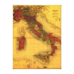 ItalyPanoramic MapItaly Gallery Wrapped Canvas