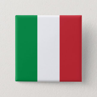 Italy's Flag 15 Cm Square Badge