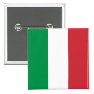 Italy's Flag 15 Cm Square Badge