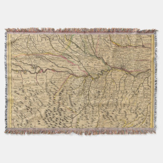 Italy's Po River Valley Throw Blanket