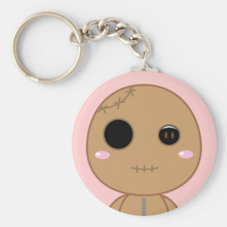 Itami the Voodoo Doll Basic Round Button Key Ring