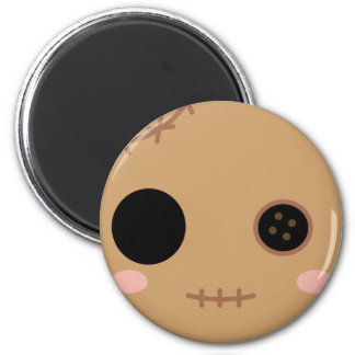 Itami the Voodoo Doll Head 6 Cm Round Magnet