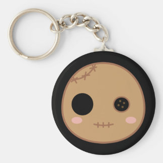 Itami the Voodoo Doll Head Basic Round Button Key Ring