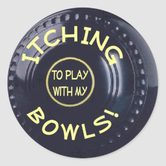 Itching Bowls Stickers