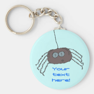 Itchy spider basic round button key ring